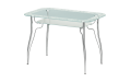 Стол стеклянный Лилия-2 (Ножки хром / металлик) 900х600х770 мм (ДхГхВ)