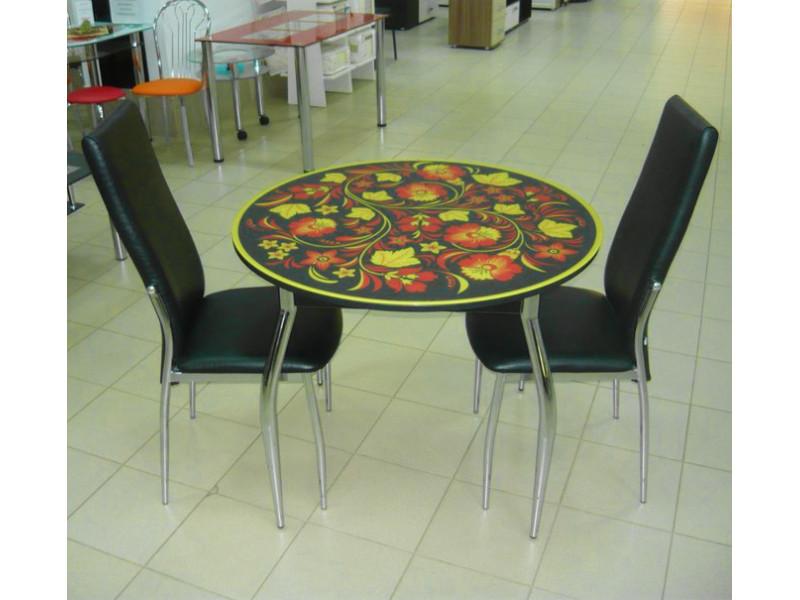 Стол стеклянный Круглый с пленкой 1000х750 (ДхВ)