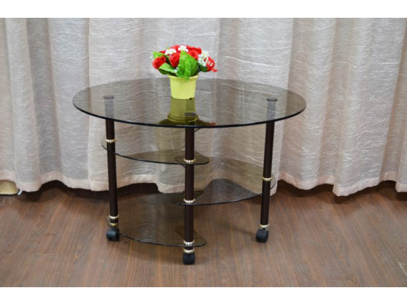 Стол журнальный Фаберже 800х600х520 мм (ДхГхВ) стекло тонированное (Бронза)