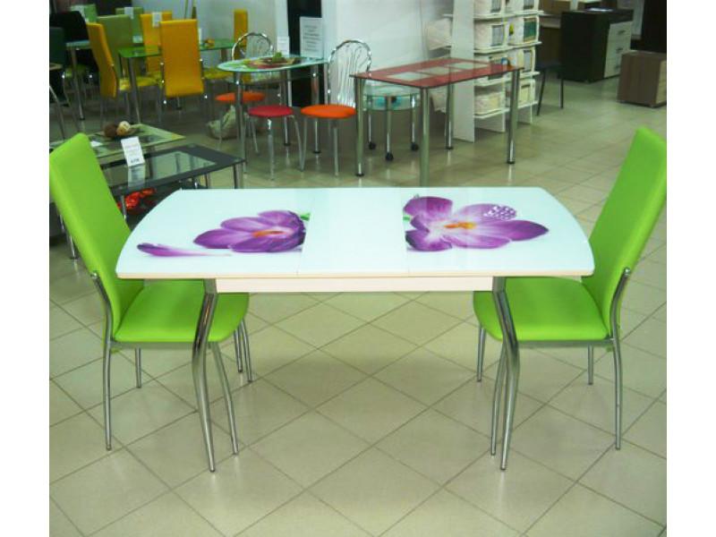 Стол обеденный Комфорт-3 раздвижной с фотопечатью 1400(1100)х700х750 (ДхГхВ)