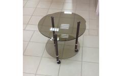 Стол журнальный Гранд 580х580х520 мм (ДхГхВ) стекло тонированное (Бронза)
