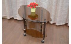 Стол журнальный Диор 900х585х520 мм (ДхГхВ) стекло тонированное (Бронза)