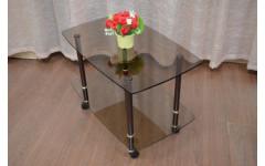 Стол журнальный Ретро 760х465х520 мм (ДхГхВ) стекло тонированное (Бронза)
