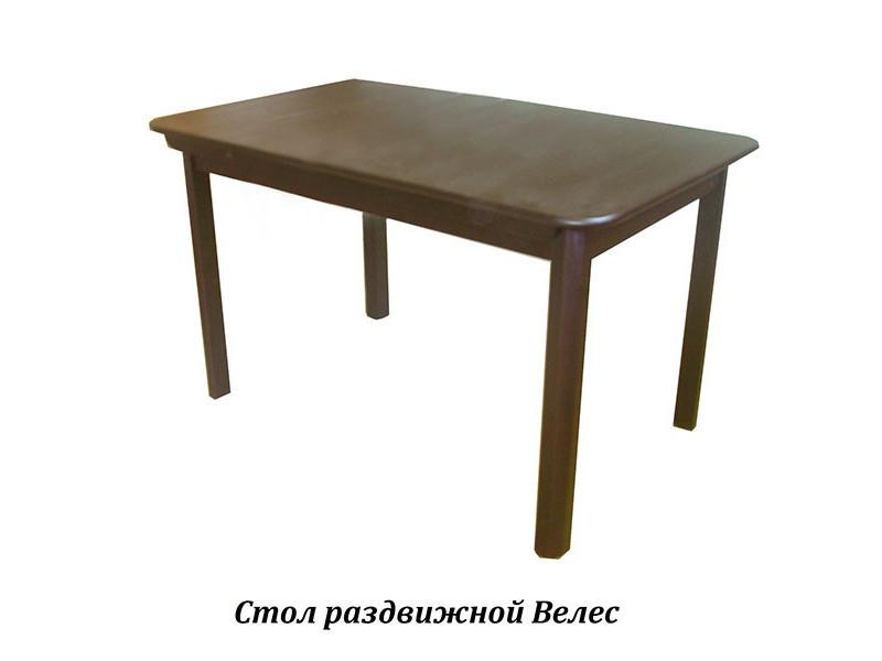 Стол из массива березы Велес (Раздвижной) 1600(1200)х800х750 мм (ДхГхВ)